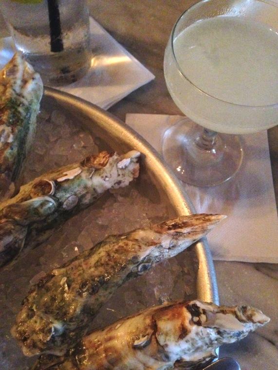 Daiqiri and oysters Prohibition Charleston